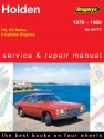Holden Belmont, Kingswood, SL, Premier, 6 Cylinder, (76 - 80)  Gregorys Repair Manual