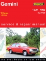 Holden Gemini (79 - 82) Gregorys Repair Manual