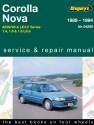 Toyota/Holden Corolla and Nova (89 - 94) Gregorys Repair Manual
