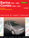 Holden Barina (01 - 05) and Combo (01 - 10), Petrol & Diesel Gregorys Repair Manual