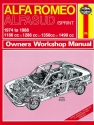 Alfa Romeo Alfasud/Sprint (1974 - 1988) Haynes Repair Manual