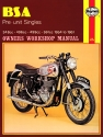 BSA Pre-unit Singles (54 - 61) Haynes Repair Manual