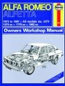 Alfa Romeo Alfetta (1973 - 1987) Haynes Repair Manual