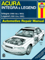 Acura Integra (1990-1993) & Legend (1991-1995) Haynes Repair Manual (USA)