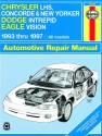 Chrysler LHS, Concorde, New Yorker, & Dodge Intrepid & Eagle Vision (1993-1997) Haynes Repair Manual (USA)