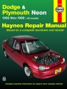 Dodge & Plymouth Neon (1995-1999) Haynes Repair Manual (USA)