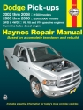 Dodge full-size pick-ups inc. 1500 (2002-2008) & 2500/3500 (2003-2008) with V6, V8 & V10 petrol & Cummins turbo-diesel, 2WD & 4WD Haynes Repair Manual (USA)