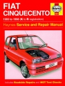 Fiat Cinquecento (93 - 98) Haynes Repair Manual