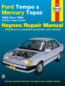 Ford Tempo & Mercury Topaz all 2WD petrol (1984-1994) Haynes Repair Manual (USA)