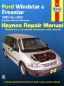 Ford Windstar (1995-2003) & Freestar & Mercury Monterey (2004-2007) Haynes Repair Manual (USA)