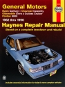 Buick Century, Chevrolet Celebrity, Oldsmobile Ciera/Cutlass Cruiser & Pontiac 6000 (1982-1996) Haynes Repair Manual (USA)