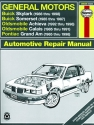 General Motors covering Buick Skylark (86-98), Buick Somerset (85-87), Oldsmobile Achieva (92-98), Oldsmobile Calais (85-91), & Pontiac Grand Am (85-98) (inc. Pontiac 2.3L Quad 4) Haynes Repair Manual (USA)