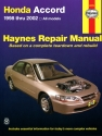 Honda Accord (1998-2002) Haynes Repair Manual (USA)