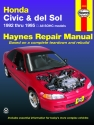 Honda Civic & del Sol covering (1992-1995) Haynes Repair Manual (USA)