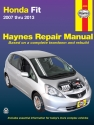 Honda Fit (2007-2013) Haynes Repair Manual (USA)