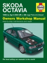 Skoda Octavia Petrol & Diesel (98 - Apr 04) Haynes Repair Manual