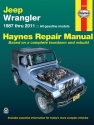 Jeep Wrangler 4-cyl & 6-cyl, 2WD & 4WD (1987-2011) Haynes Repair Manual (USA)