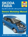Skoda Fabia petrol & diesel (May 07-14) Haynes Repair Manual