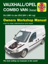 Vauxhall/Opel Combo Diesel Van (Oct 2001 to Jan 2012) 51 to 61 Haynes Repair Manual