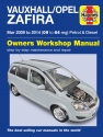 Vauxhall/Opel Zafira (Mar 09-14) 09 to 64 Haynes Repair Manual