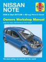 Nissan Note Petrol & Diesel (06 - Sept 13) 06 to 63 Haynes Repair Manual
