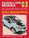 Vauxhall/Opel Mokka Petrol & Diesel (12 - Sept 16) 62 to 66 Haynes Repair Manual