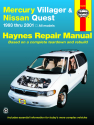 Mercury Villager & Nissan Quest (1993-2001) Haynes Repair Manual (USA)
