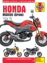 Honda MSX125 Grom (2013-2018) & MSX125A Grom (2017-2018) Haynes Repair Manual --COMING SOON--