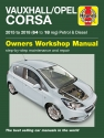 Vauxhall/Opel Corsa Petrol & Diesel (2015 - 2018) 64 to 18 Haynes Repair Manual