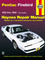 Pontiac Firebird (1982-1992) Haynes Repair Manual (USA)
