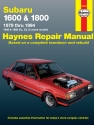 Subaru 1600 and 1800 (79-94) Haynes Repair Manual