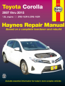 Toyota Corolla (07-15) Haynes Repair Manual