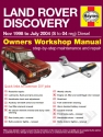 Land Rover Discovery Diesel (Nov 98 - Jul 04) S to 04 Haynes Online Manual
