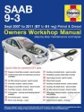 SAAB 9-3 Petrol and Diesel (07 - 11) 57 to 61 Haynes Online Manual