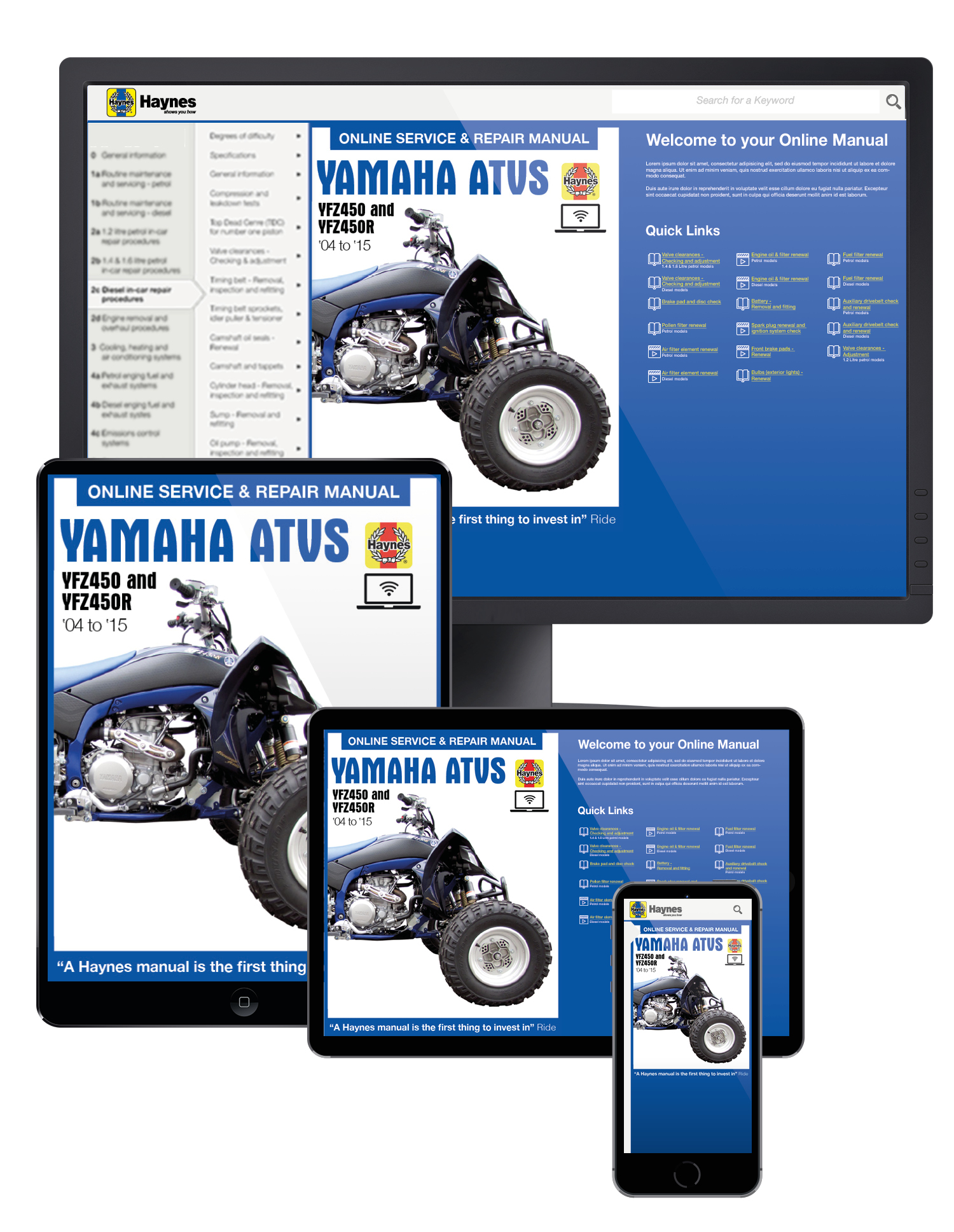 Yfz450 Haynes Publishing 04 Yfz 450 Wiring Schematic Diagram Online Manual Enlarge Yamaha