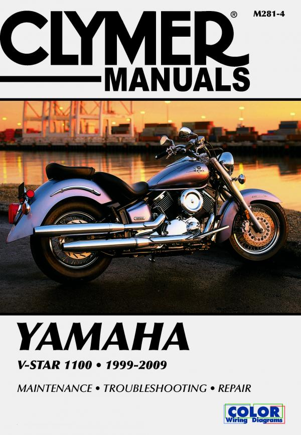 Yamaha V-Star 1100 Series Motorcycle (1999-2009) Service Repair Manual
