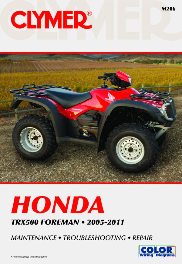 Honda TRX500 Foreman Series ATV (2005-2011) Service Repair Manual