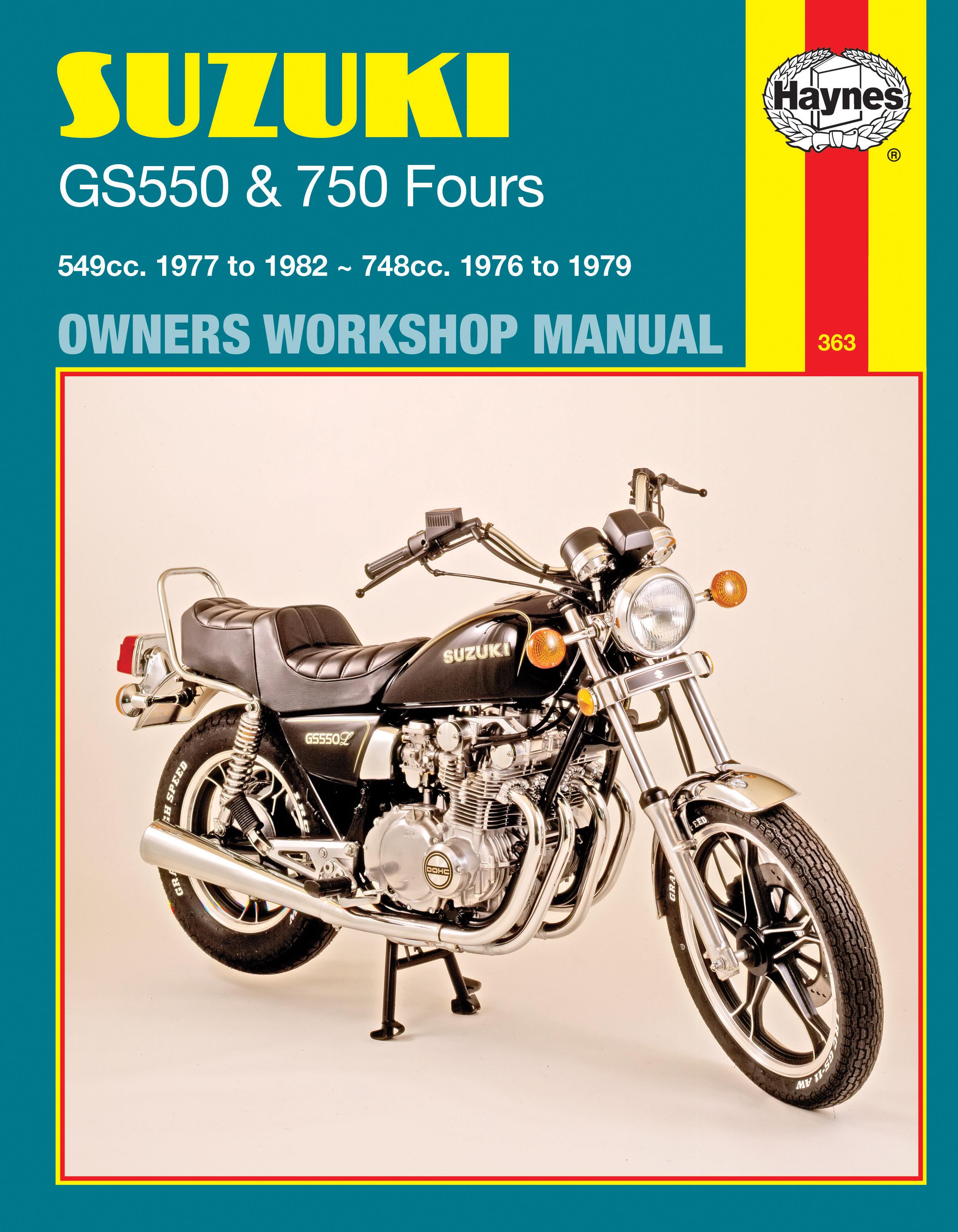 Suzuki GS550 (77 - 82) & GS750 Fours (76 - 79) Haynes Repair Manual