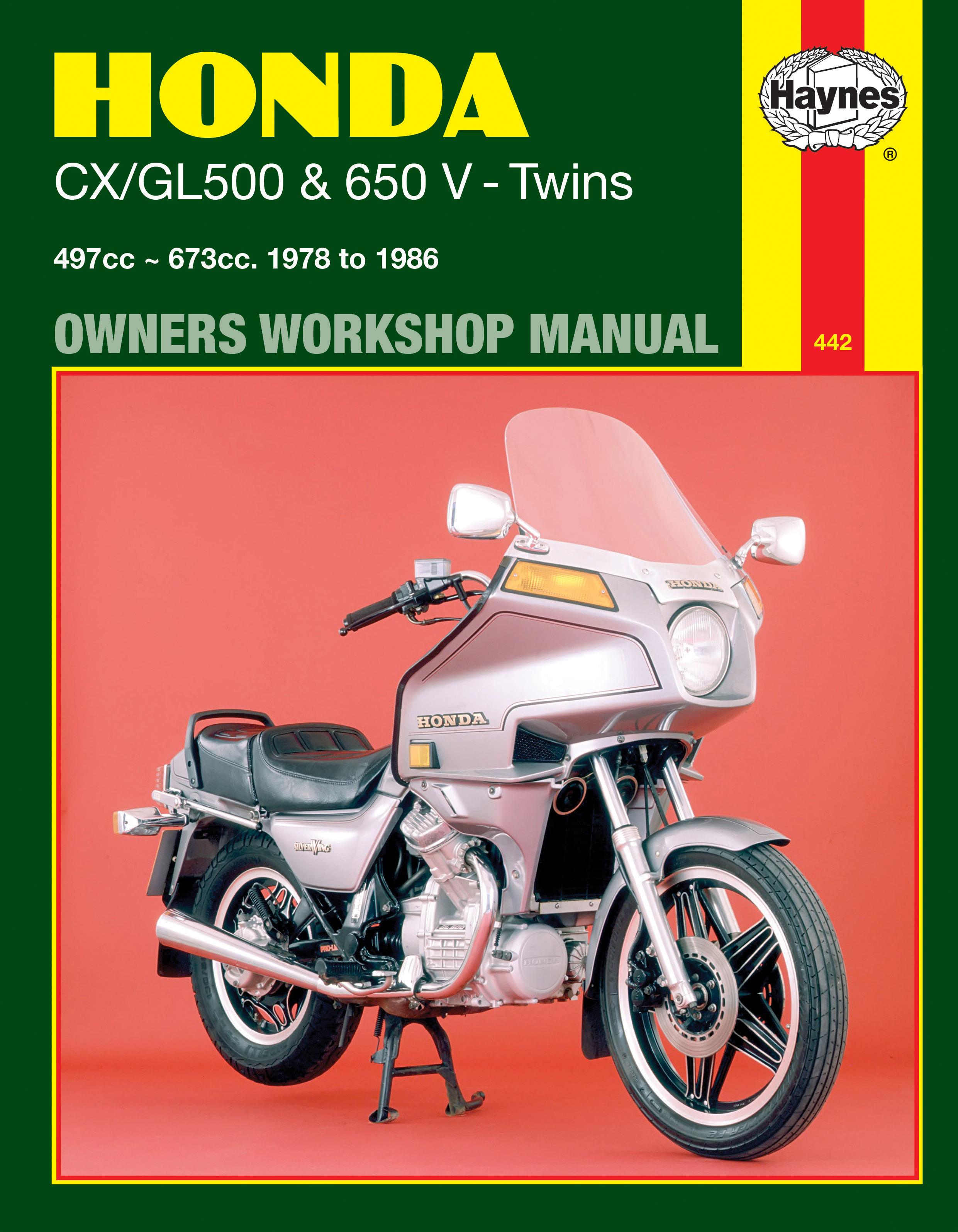 Honda CX/GL500 & 650 V-Twins (78 - 86) Haynes Repair Manual