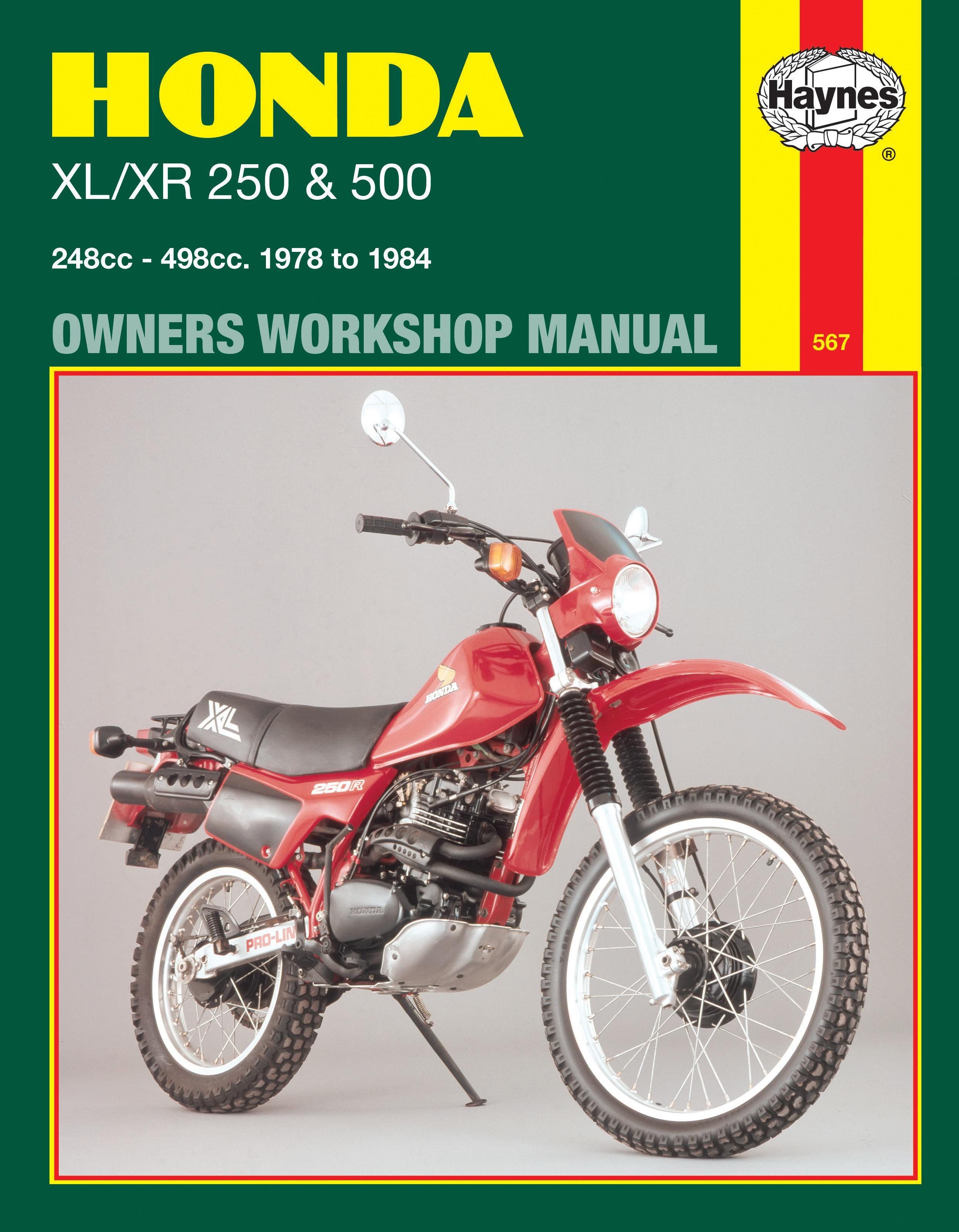 Honda XL/XR 250 & 500 (78 - 84) Haynes Repair Manual