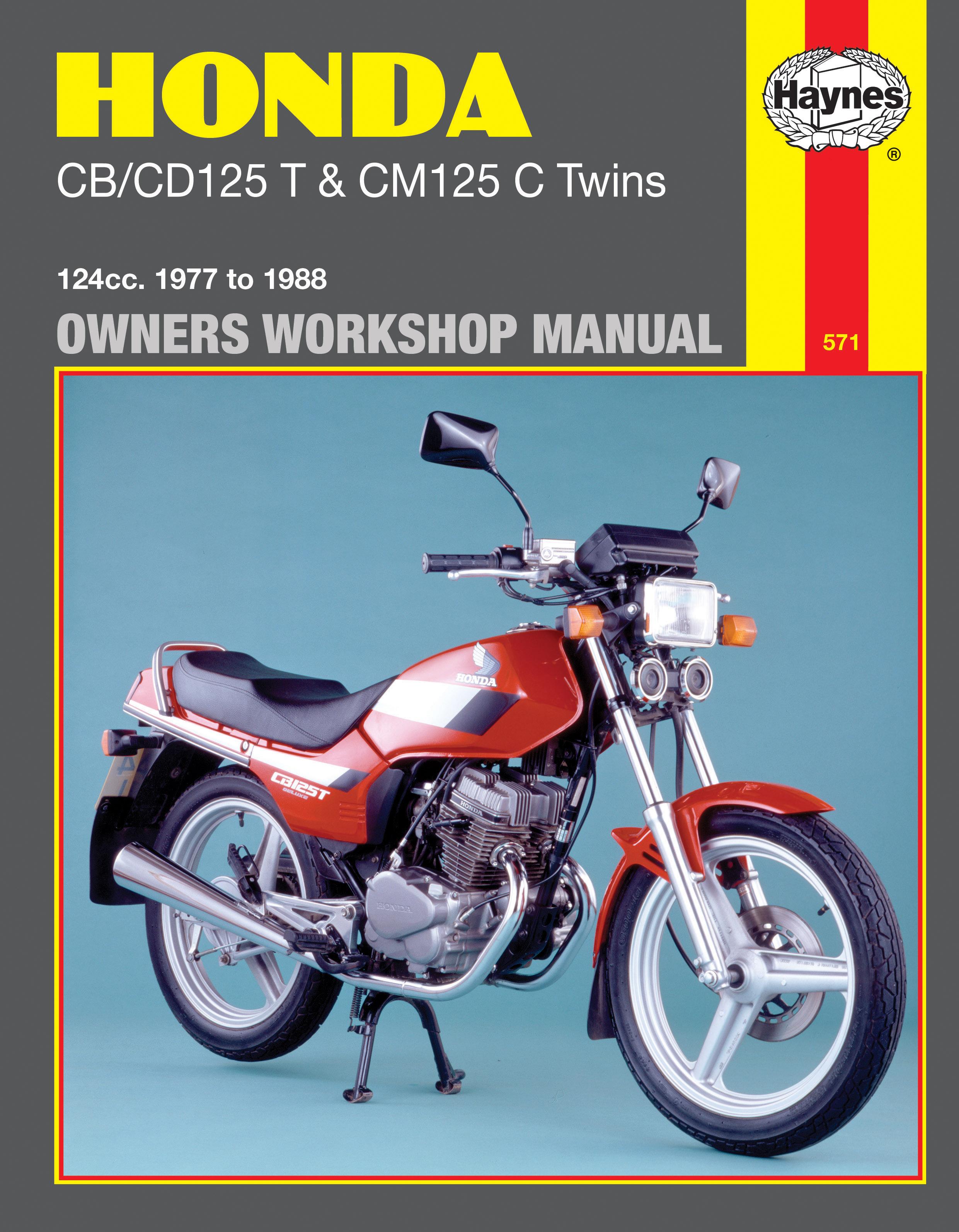 Honda CB/CD125T & CM125C Twins (77 - 88) Haynes Repair Manual