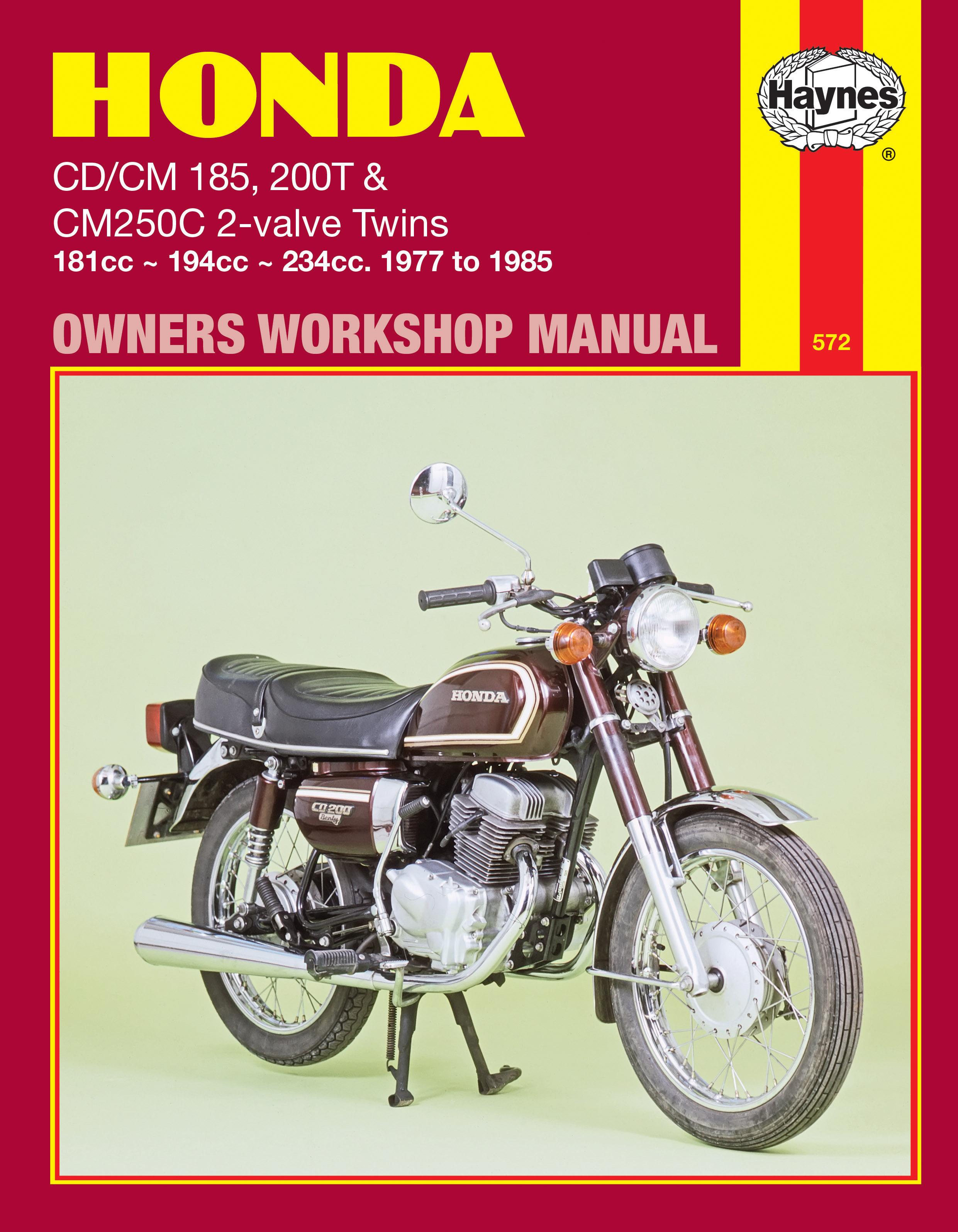 Honda CD/CM185 200T & CM250C 2-valve Twins (77 - 85) Haynes Repair Manual