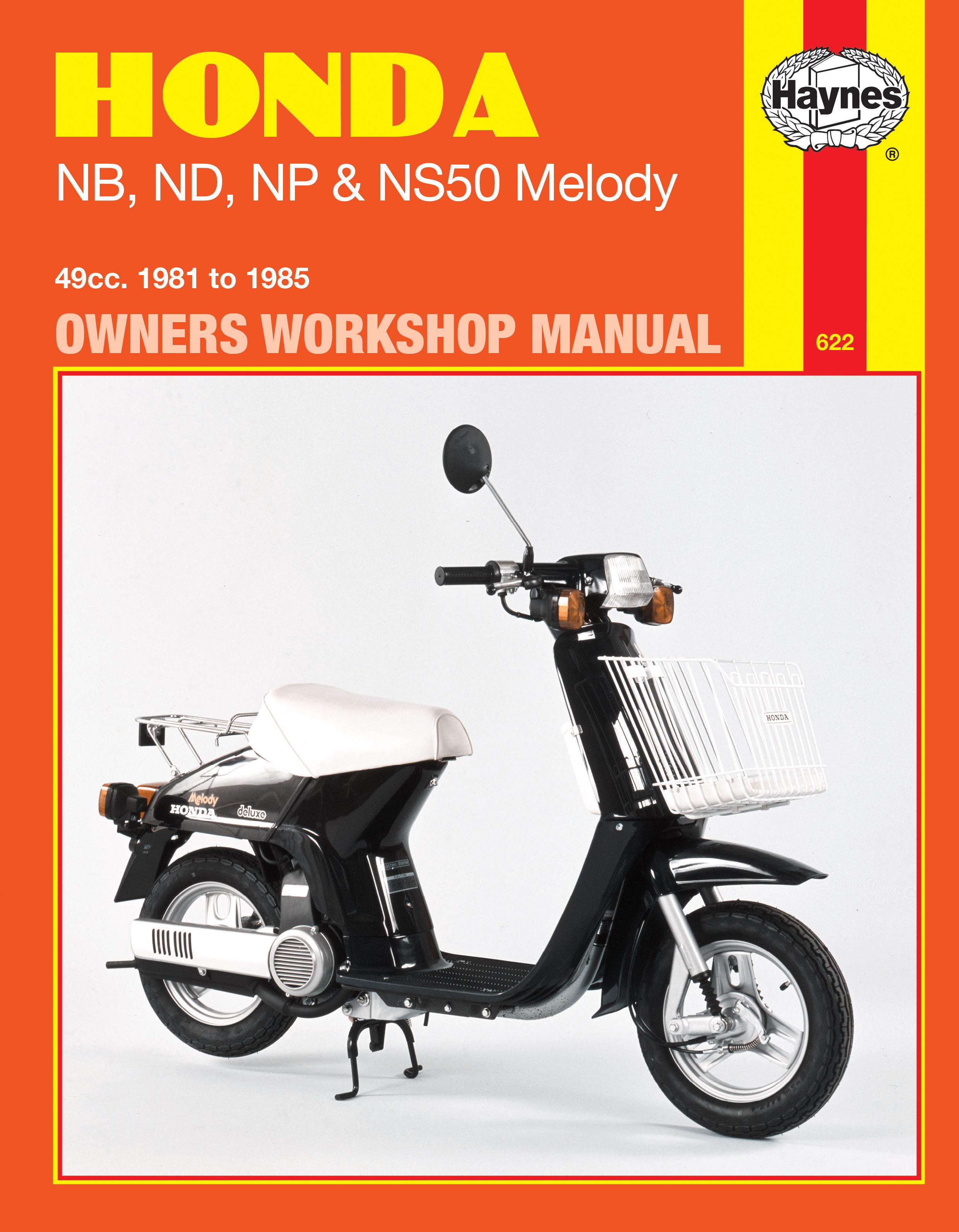 Honda NB, ND, NP & NS50 Melody (81 - 85) Haynes Repair Manual