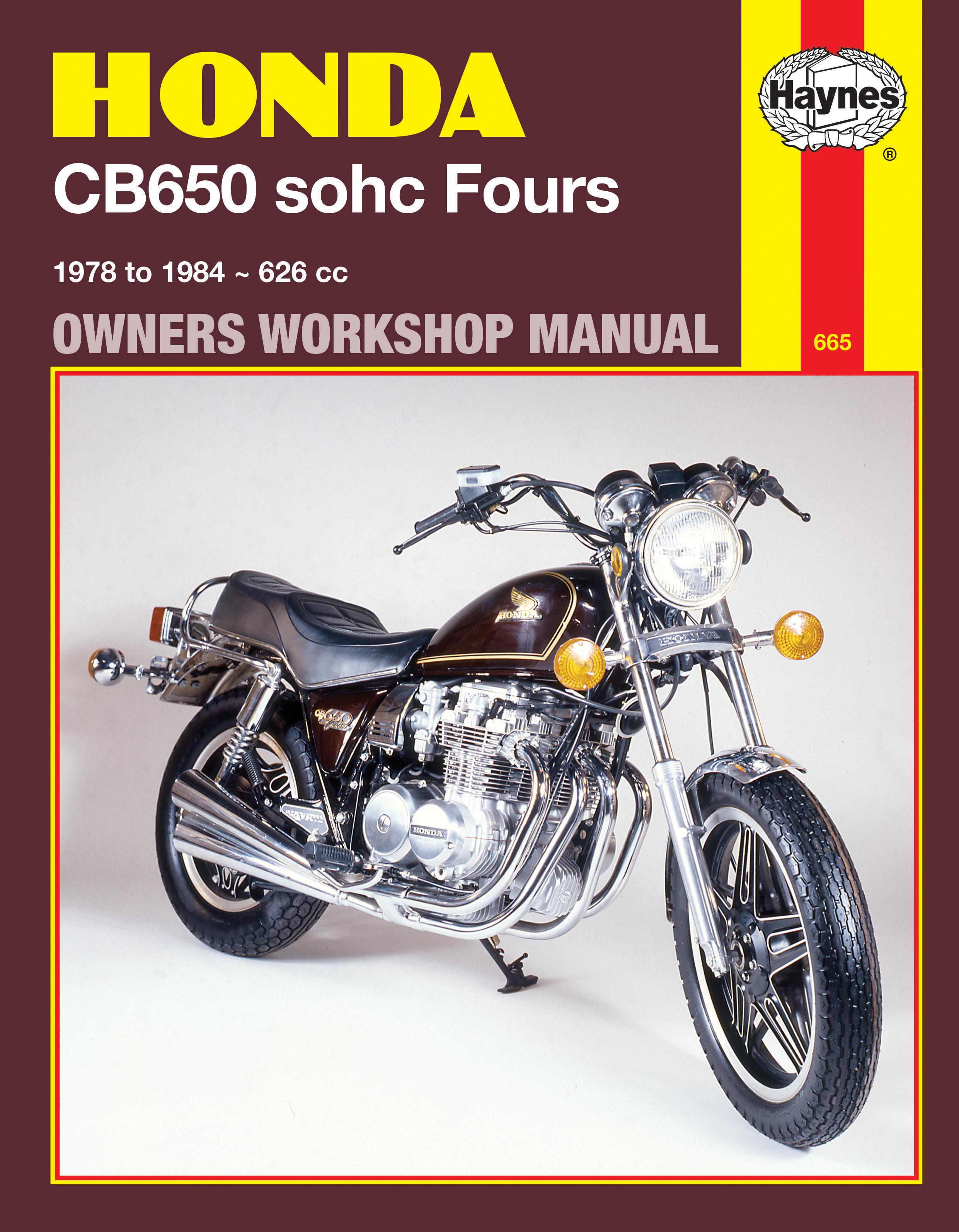 Honda CB650 sohc Fours (78 - 84) Haynes Repair Manual