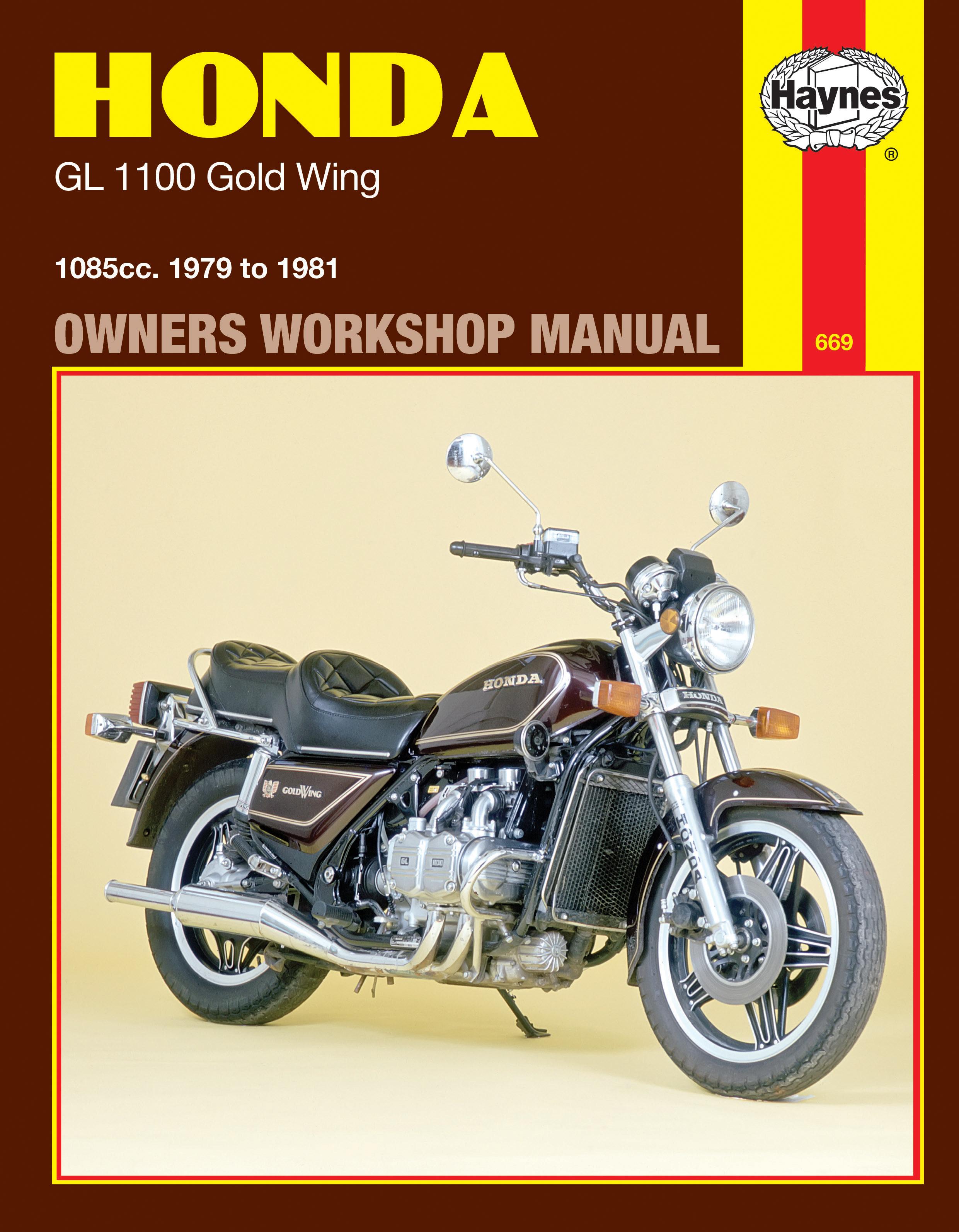 Honda GL1100 Gold Wing (79 - 81) Haynes Repair Manual
