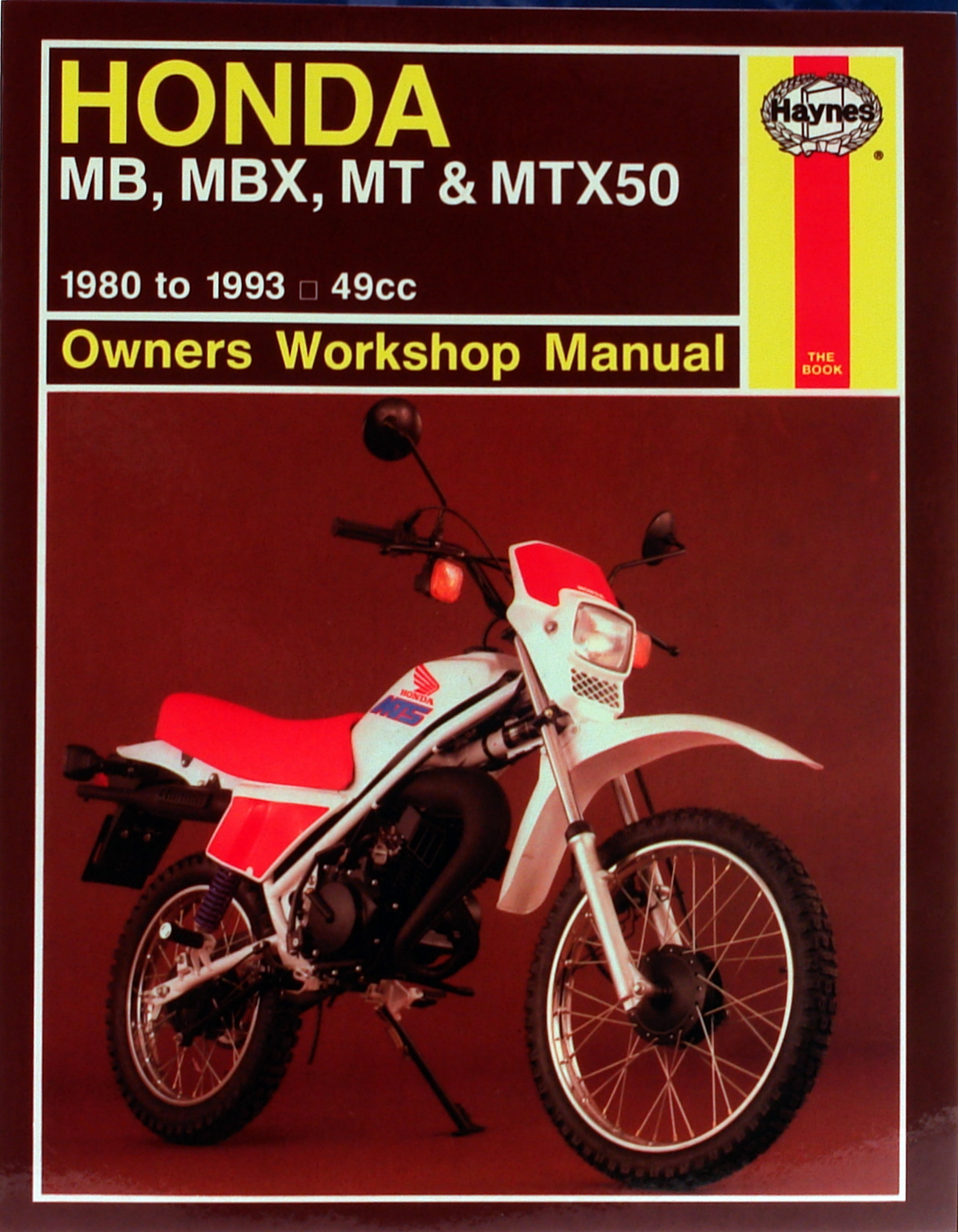 Honda MB, MBX, MT & MTX50 (80-93) Haynes Repair Manual