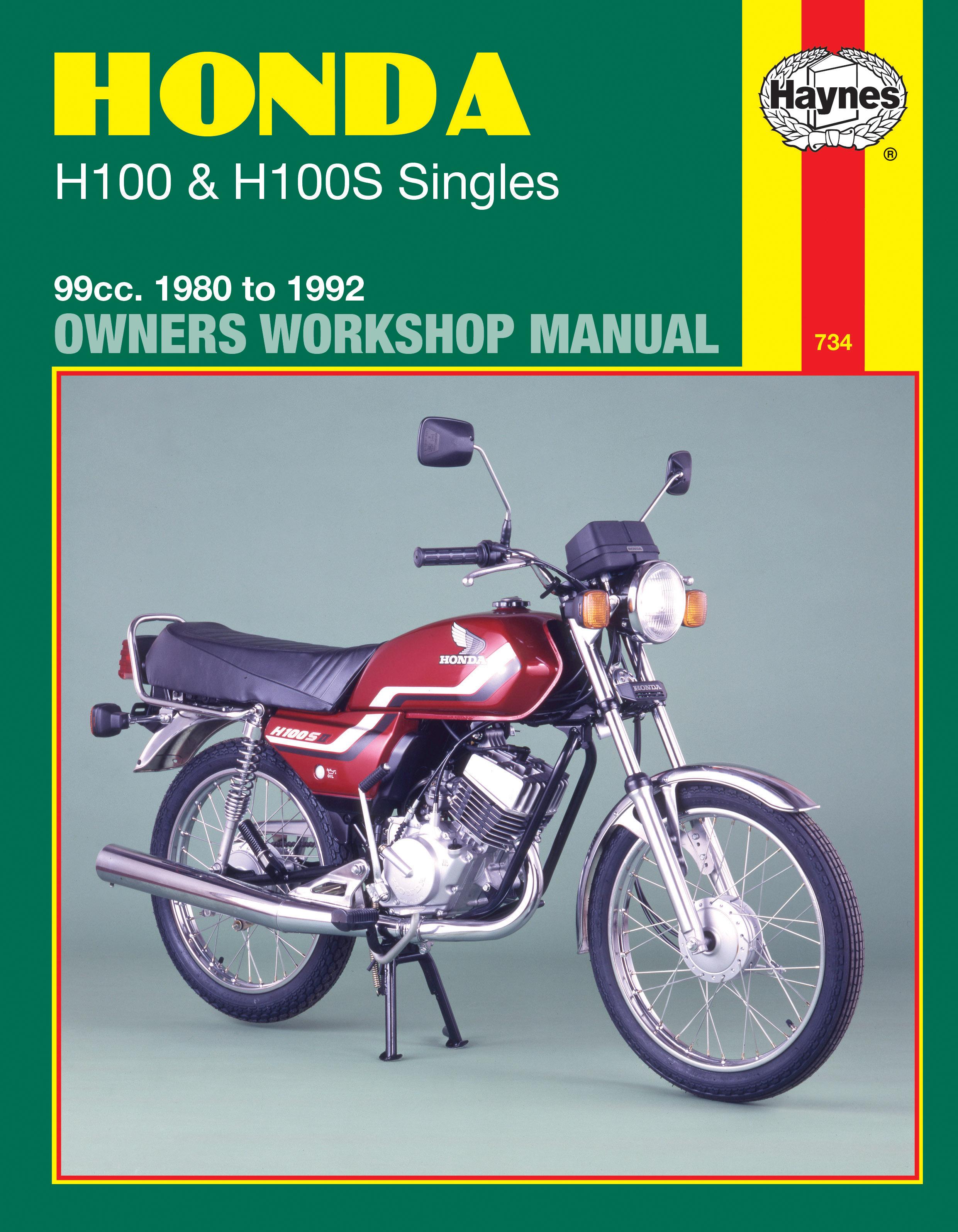 Honda H100 & H100S Singles (80 - 92) Haynes Repair Manual
