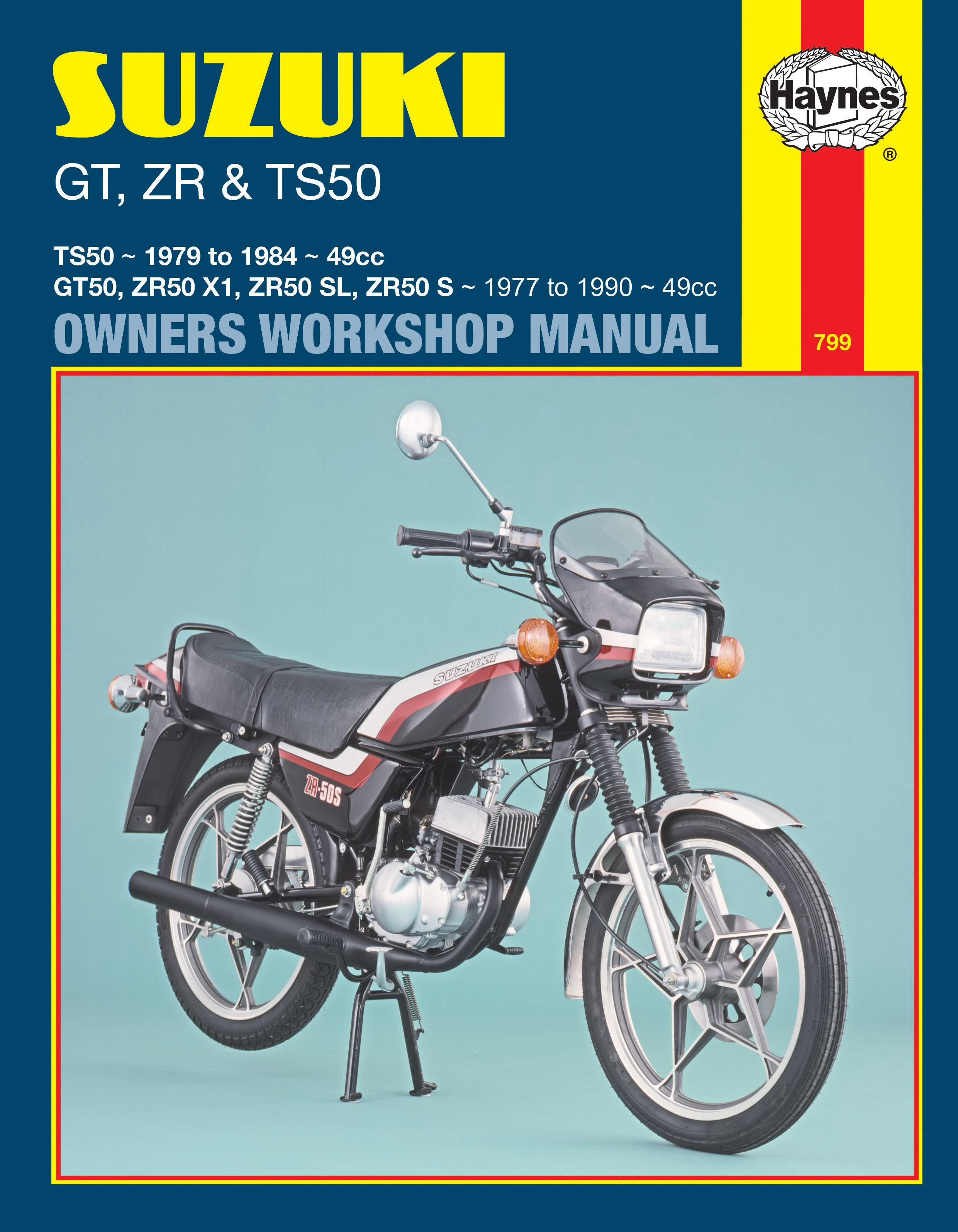 Suzuki GT, ZR & TS50 (77 - 90) Haynes Repair Manual