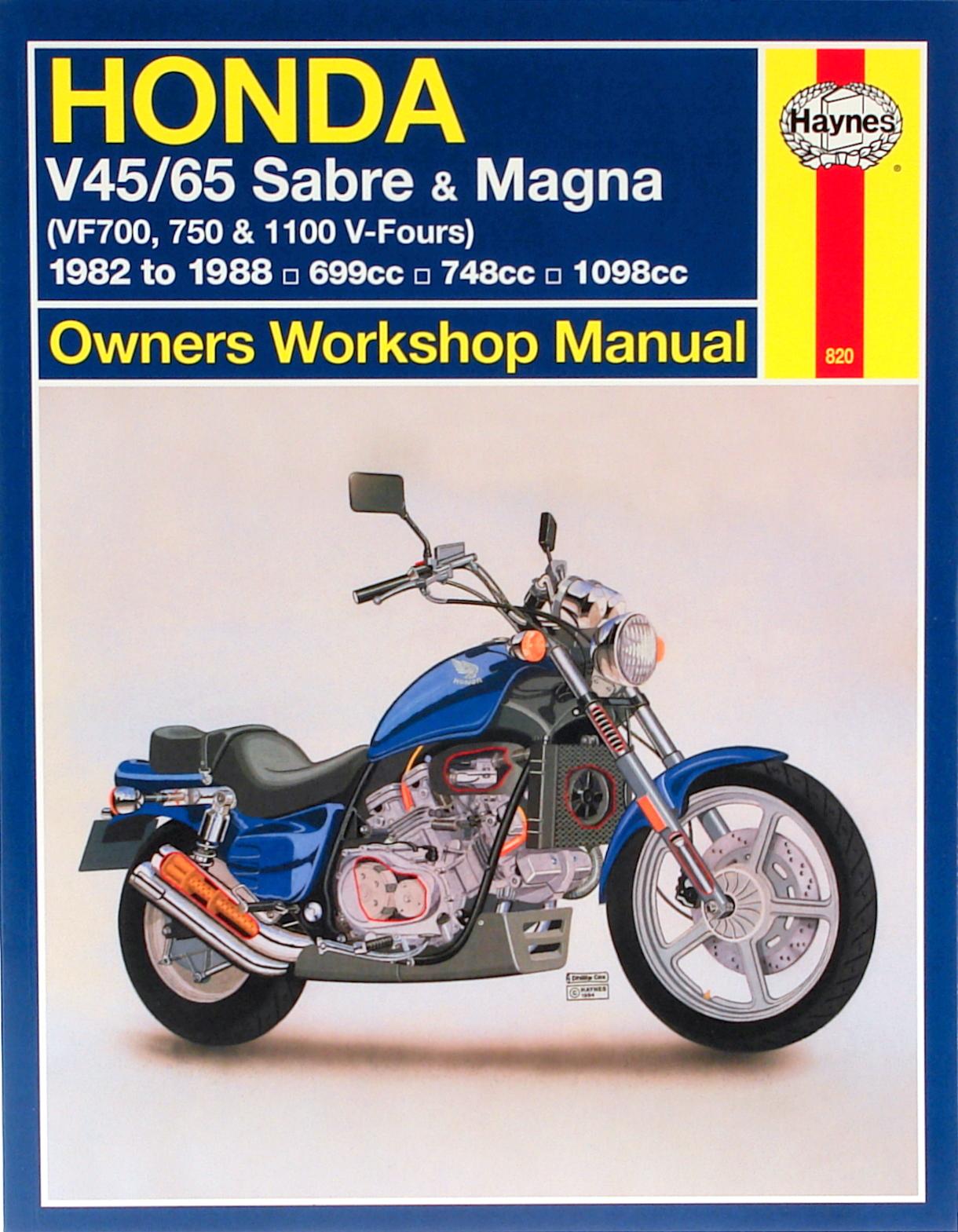 Honda V45/65 Sabre & Magna (82 - 88) Haynes Repair Manual