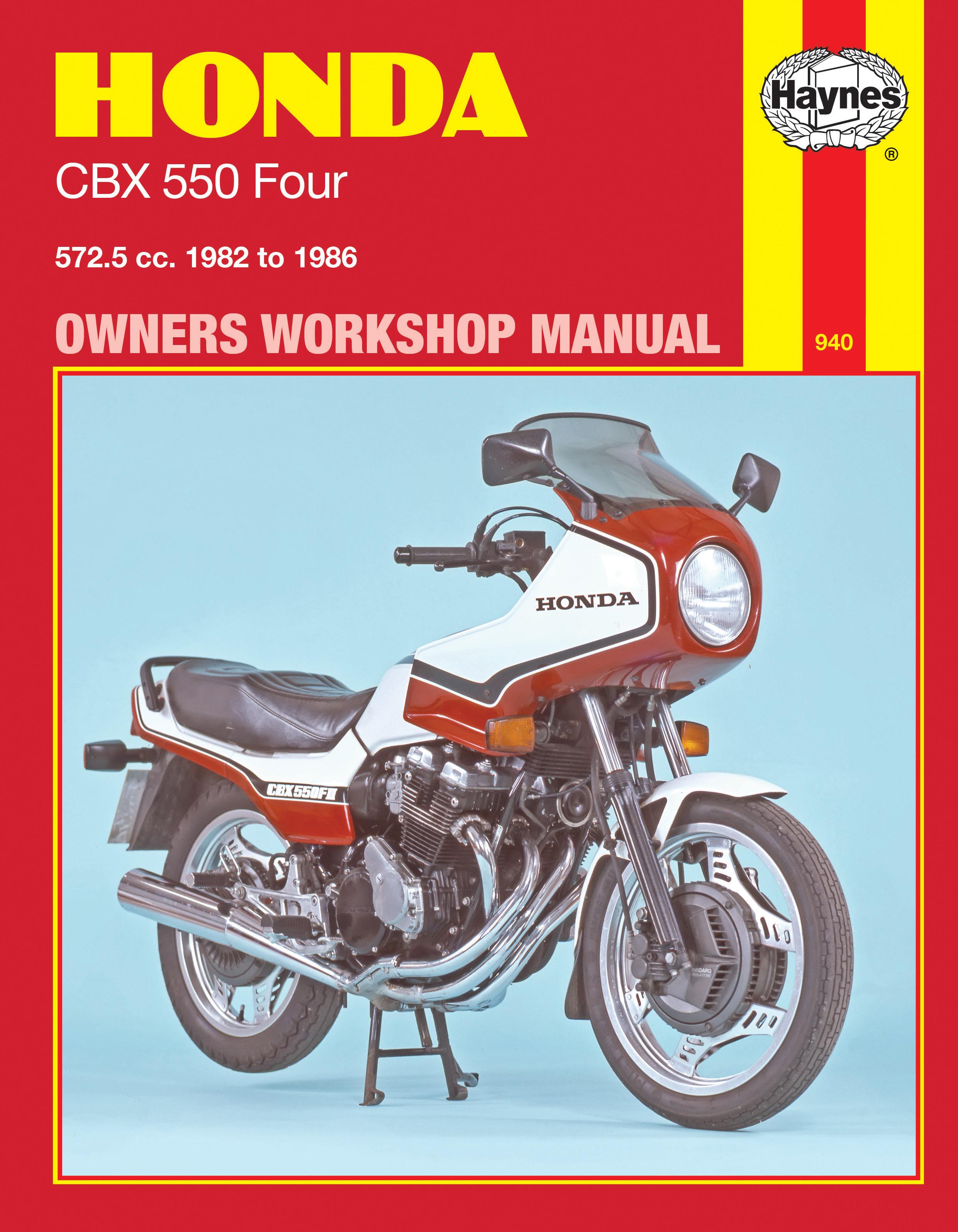 Honda CBX550 Four (82 - 86) Haynes Repair Manual